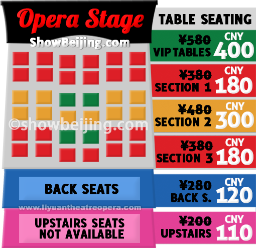 Liyuan Theatre Ticket Price List